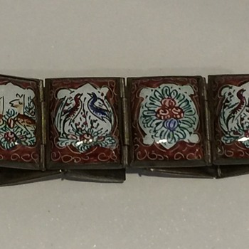 Persian Enamel Painted Tile Bracelet - Fine Jewelry