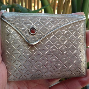 Vintage Italian Silver Compact