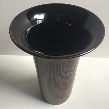 Japanese Tenmoku Glaze Porcelain Vase