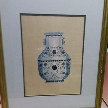 ORIENTAL VASE OIL PAINTING - Visual Art