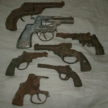 Assorted Cast Iron Cap Guns - Toys