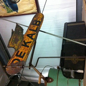 1940's Dekalb Seed Flying Corn Wearther Vane - Signs