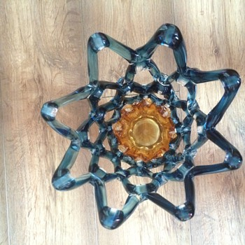 open lace art glass vase