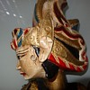 Indonesian wood double faced puppets.