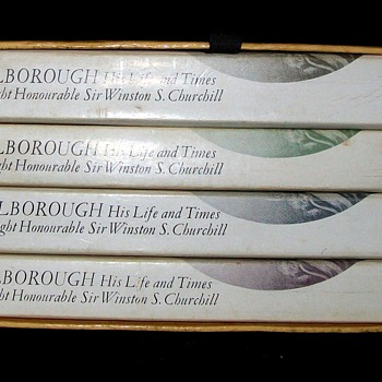 MARLBOROUGH HIS LIFE AND TIMES 4 VOLUME SET by WINSTON CHURCHILL - Books