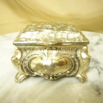 Silver plate jewelry casket