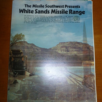 1973 Missile Southwest White Sands Missile Range Employee Book