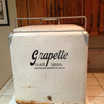 Grapette Cooler - Advertising