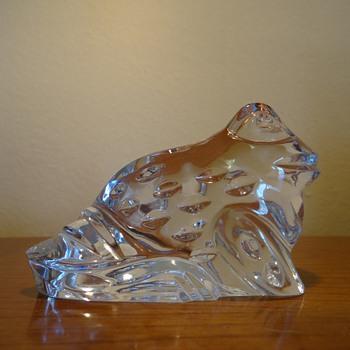 WATERFORD CRYSTAL FROG