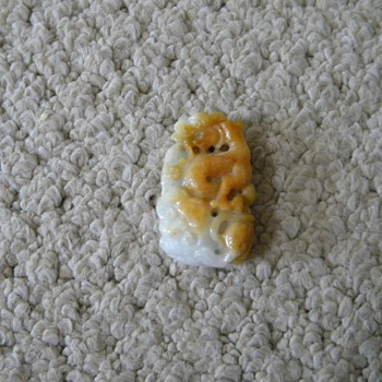 Vintage Chinese Jade Pendant Carved Dragon - Fine Jewelry