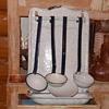 Graniteware Utensil Holder With Utensils