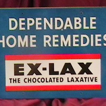 1930's-1940's Ex- Lax Sign and Thermometer - Advertising