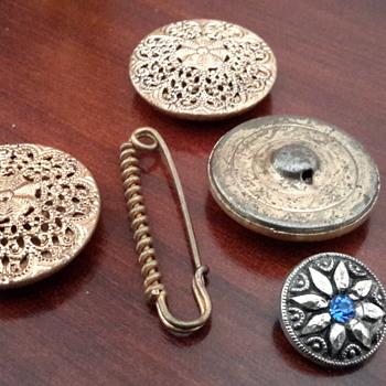 Victorian laundry pin& 1920s cufflinks