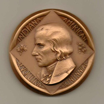 "Bicentennial ""State of Indiana"" Bronze Medallion - US Coins"