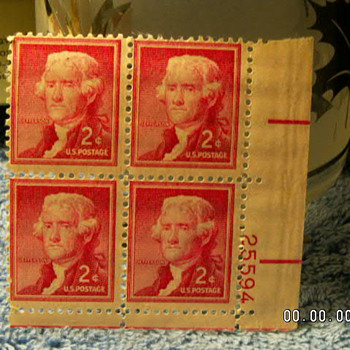1954 Thomas Jefferson 2¢ Stamps
