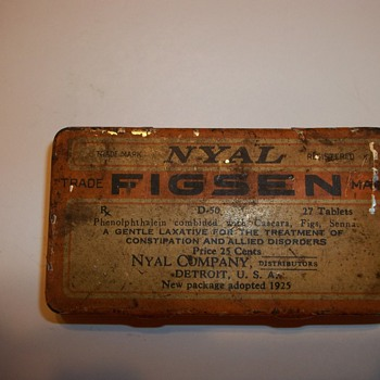 VINTAGE MEDICINE TIN - Advertising