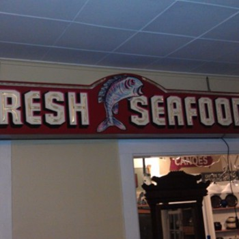  neon seafood sign - Signs