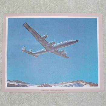Lockheed Super Constellation Airplane Print