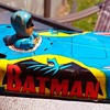 1966 Batman AOSHIN Litho Friction Tin Batmobile nice Shape