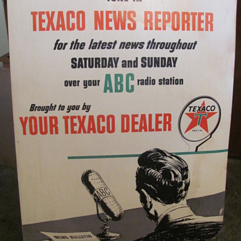 1950s Texaco radio add. - Petroliana