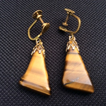 Tigers eye earrings - Fine Jewelry