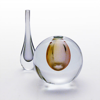 Strmbergshyttan miniature vases - Gunnar Nylund - Art Glass