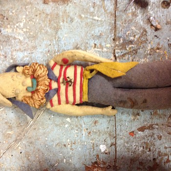 Old Felt Sailor Doll -Need info