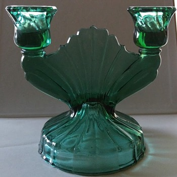 Jeanette Double Branch Candle Holder - Glassware
