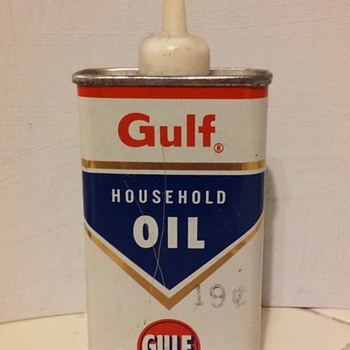 old GULF HOUSEHOLD OIL dropper can