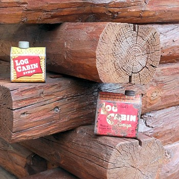Log Cabin Syrup Tin and Bank