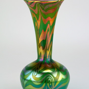 Victor Durand King Tut Art Glass Vase, signed
