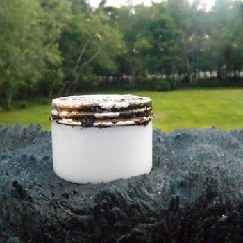 Milk Glass Vanity Jar - Glassware