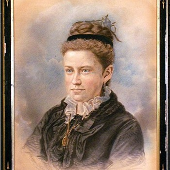 1871 Portrait of a Young Woman by Frank Pearsall, Brooklyn Photographer - Victorian Era