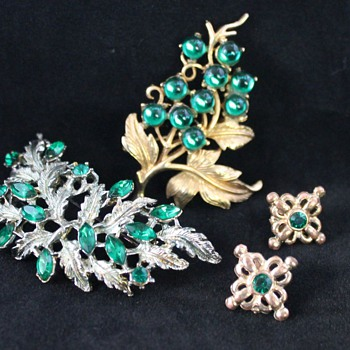 Costume Jewellery - Some Greens