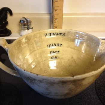 Cast Iron Porcelain batter bowl?