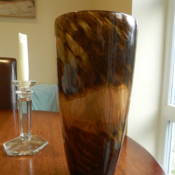Large Gold Aventurine Murano Vase ? - Art Glass