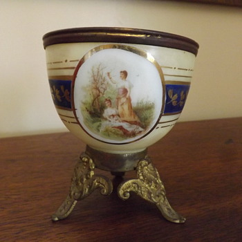 French? cased glass finger bowl?