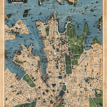 Robinsons map of Sydney, Australia (1922)