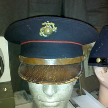 "late 1920's USMC ""HORSE MARINE"" Visor dress cap"