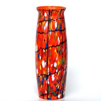 Kralik confetti vase - Art Glass