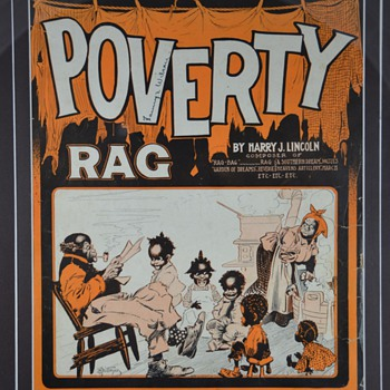 Black Americana Poverty Rag Sheet Music - Music