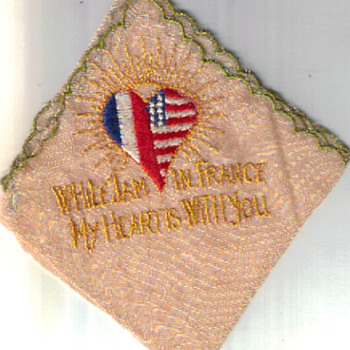FRENCH HANDKERCHIEF WW2 SOUVENIR 1945 - Accessories
