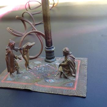 Cold painted Bronze Bergman Lamp !