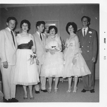 Dress's and Style 1959-1960 prom ( No not me :-)  - Photographs