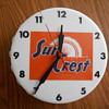Sun Crest Soda Bottle Shaped Clock