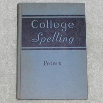 1940 College Spelling Textbook