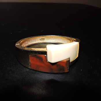 Trifari Bakelite?? Bangle - Costume Jewelry