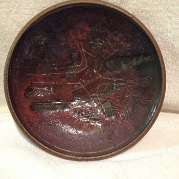 Rising Fawn Plate - Art Pottery