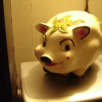 Huge Chalk Piggy Bank - Coin Operated