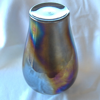 Education With Contemporary 80s? Iridescent Glass Vases - Have an Eagle Eye! - Glassware